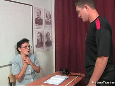 Russian mature teacher Kayla history lesson | -classroom-russian-school-teacher-
