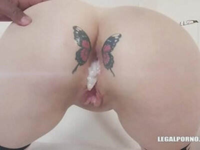 Russian Babe Dayana Ice Loves Two Monster Cocks in Her Ass | -ass-creampie-love-monster cock-russian-