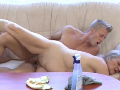Mature whore fucks younger dude   -dude-german-old and young-whores-