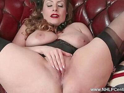 Natural tits brunette wanks in nylon | -big tits-brunette-leather-natural-natural tits-nylons-