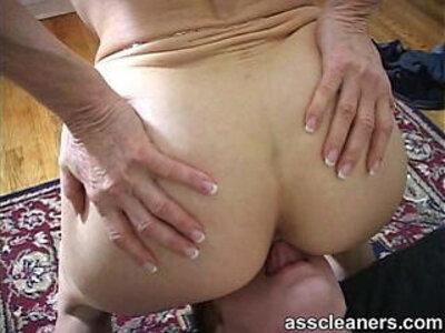 Licking off mistress hemorrohoid in her ass | -ass-granny-licking-mistress-