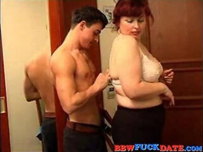 BBW Mature Woman and Younger Boy   -bbw-boy-mature-old and young-woman-