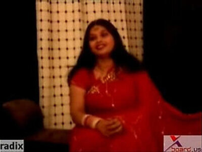 chubby indian aunty in red sari | -aunty-chubby-fat-indian-