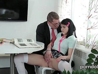 Sultry college girl get seduced and shagged by her older teacher | -classroom-college-girl-older-seduction-teacher-