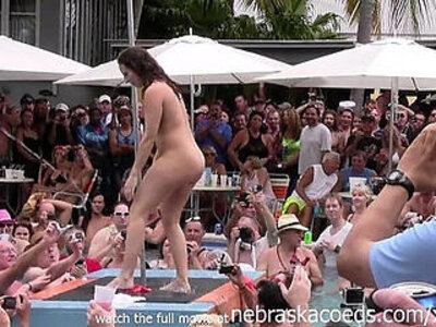 wild milfs stripping down naked in pool hot body strip contest | -innocent-naked-pool-striptease-wild-wrestling-