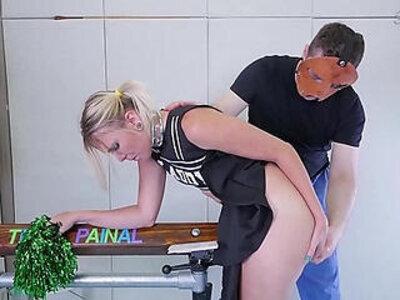 Big ass cheerleader in braces gets nasty ass to mouth treatment | -ass to mouth-big ass-cheerleader-nasty-