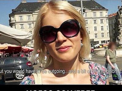 Blond Czech exhibitionist bounces her perfect ass on a big dick | -ass-big cock-blonde-czech-exhibitionist-money-