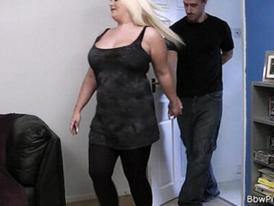 He bangs lovely blonde bbw at first date | -banged-bbw-blonde-date-first time-grandma-