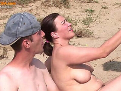Real amateur threesome on the beach | -3some-beach-public-reality-