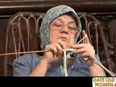 Old Grandma Accepting Big Cock   -big cock-glasses-grandma-older-