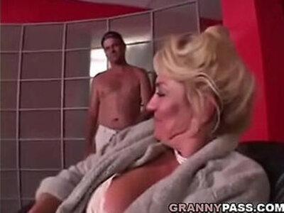 Busty Grandma is getting her pussy stuffed | -busty-grandma-older woman-pussy-