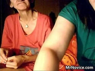 Granny and a much young girl flashing | -flashing-grandma-granny-young-