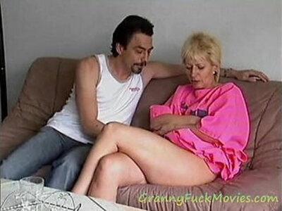 Hard pounding granny Mathilde | -granny-pounding-