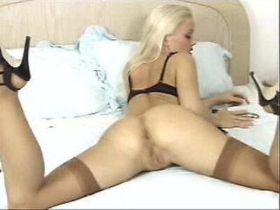 Silvia Saint Masturbation Vibrator Lingerie and Stockings | -lingerie-masturbation-stockings-vibrator-
