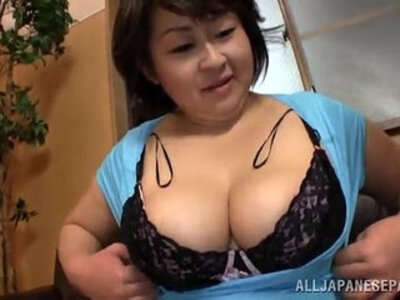 Fat Japanese woman gives a titjob and sucks dick | -dick-fat-japanese-titjob-