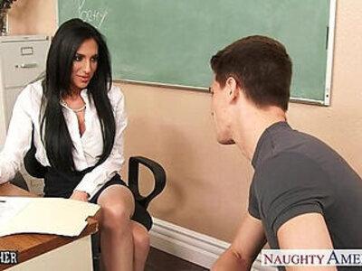 Busty sex teacher Jaclyn Taylor gets banged in classroom | -banged-busty-classroom-teacher-