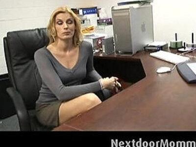 Cougar secretary swallows black cock cum | -black cock-cougar-cum-secretary-swallow-