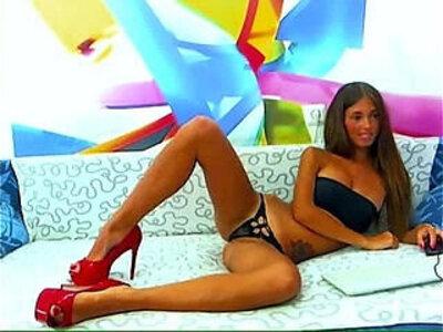 Teen Sexy Heels Spreads Her Legs | -heels-high heels-huge tits-legs-teen-