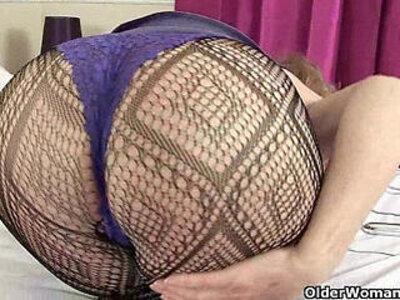 British granny Zadi soaks her tights | -british-granny-