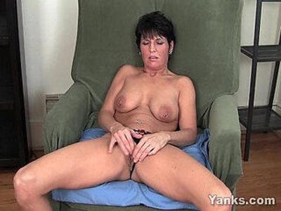 Pierced Milf Kassandra Masturbating | -clit-masturbation-milf-piercing-