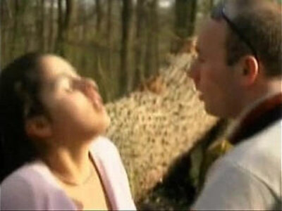FRENCH CASTING petite brunette amateur teen in a forestMore | -brunette-casting-couch-double-french-park-