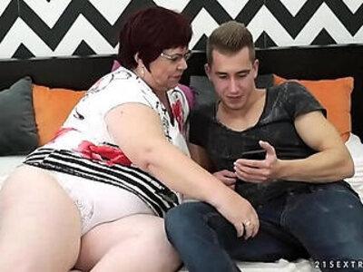 BBW granny vs young guy Lusty Grandmas | -bbw-gay-granny-young-