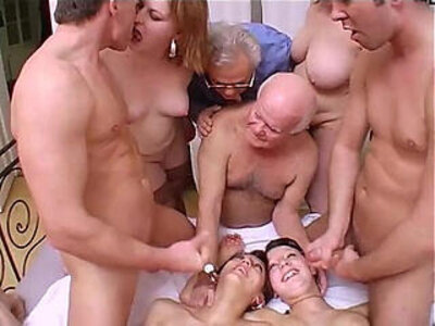 Crazy session with grandpa in a dirty and perverse family! | -crazy-dirty-family-grandpa-orgy-