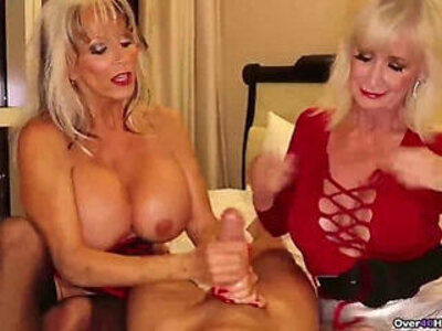 Over two grannies jerking you off | -granny-jerking-